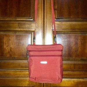 Red Baggallini Pocket Crossbody with RFID NWOT